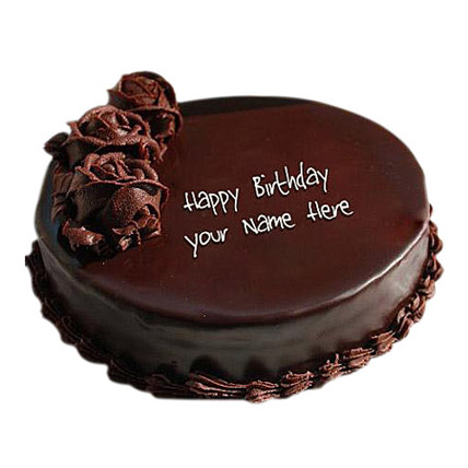 Design Of Chocolate Cake : 1 Kg Floral Design Chocolate Cake in uae Gift 1 Kg ...