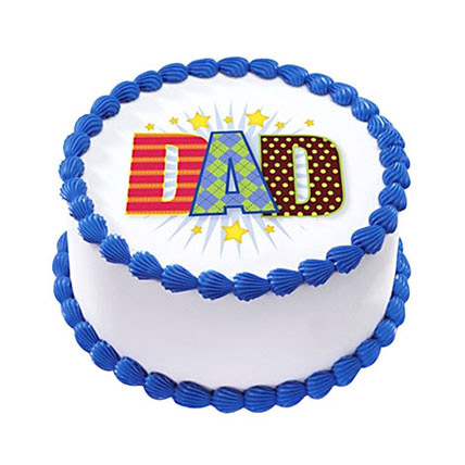 1kg Photo Cake Fathers Day