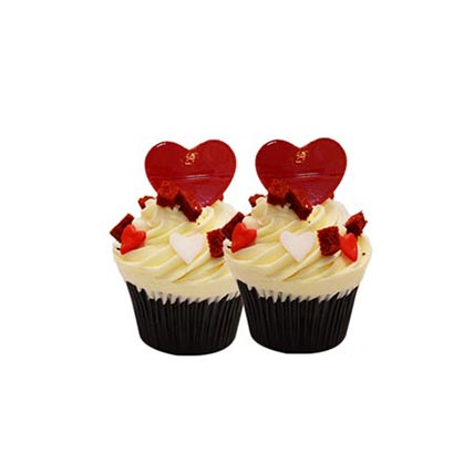 6 Red Velvet Cup Cakes