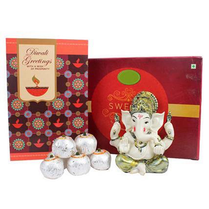 Diwali Greetings with Ganesha