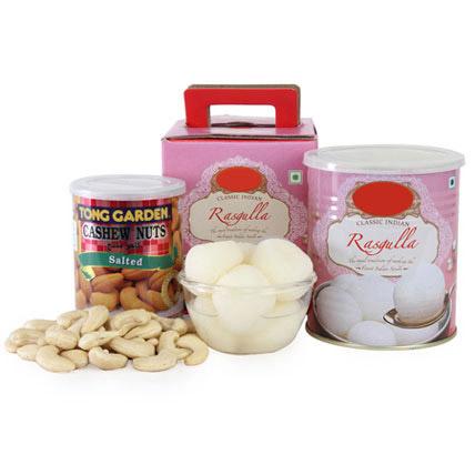 Rasgulla With Cashews UAE