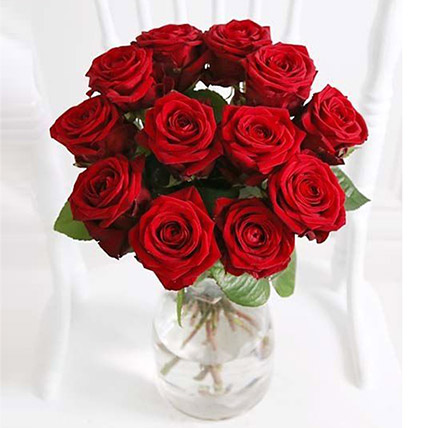 A Dozen Luxury Red Roses