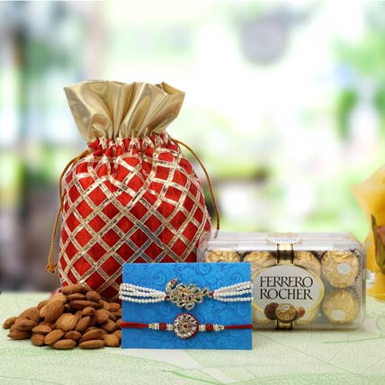 Almond Rakhi Hamper