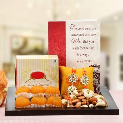 Gorgeous Orange Loomba Rakhi