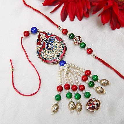 Peacock Lumba Rakhi