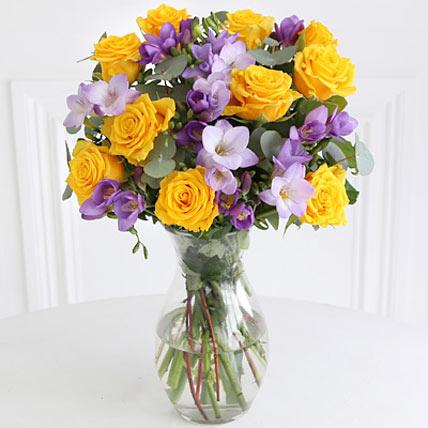Rose n Freesia Bouquet