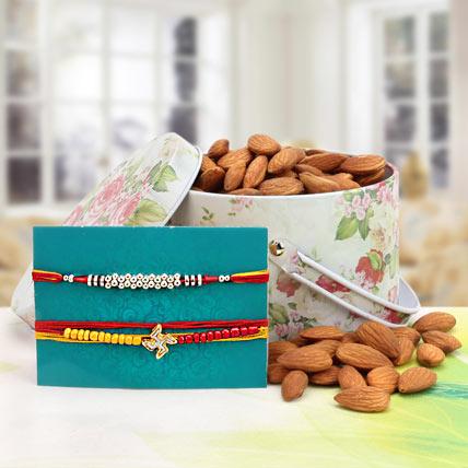 Almonds with Rakhi Combo