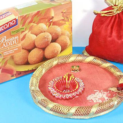 Bhaidooj Wishes with Bikano Laddu