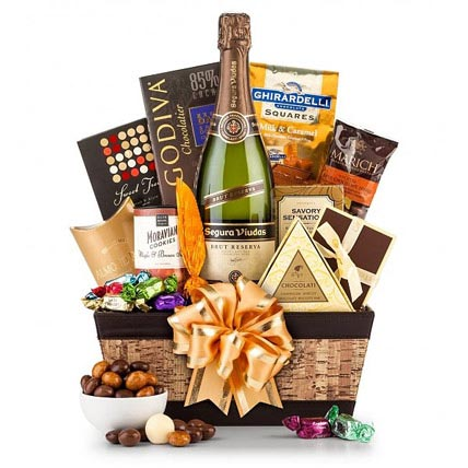 Champagne and Chocolate Pairing Gift Basket