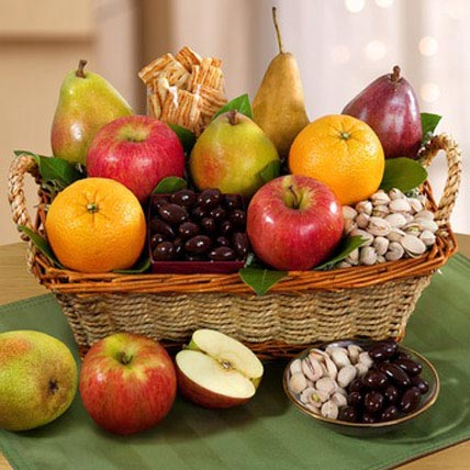 Fruit n Nut Gift Basket