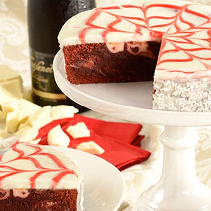 Red Velvet Brownie Cake