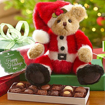 Santa Bear with Chocolates
