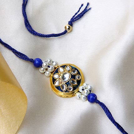 Shining Blue Rakhi