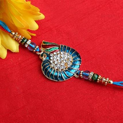 Studded Peacock Rakhi