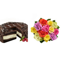 Chocolate Cheesecake and Colorful Roses: Send Cakes to California